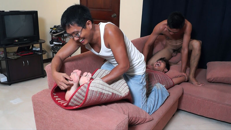 Male tickling asian