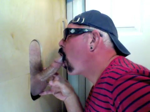 Married Latino Gets Gloryhole Dick Sucking